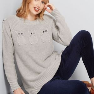 Modcloth Critter Credibility Mouse Sweater nwot